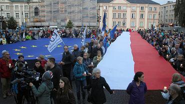 25.06.2018, Warszawa, protest pod siedzibą Sądu Najwyższego.