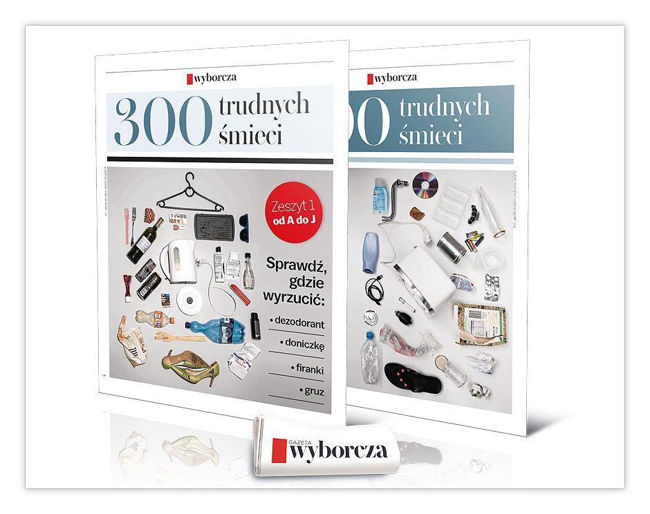 Segregacja śmieci. Dodatki specjalne '300 trudnych śmieci' już 19 i 20 lutego wraz z 'Wyborczą' w punktach sprzedaży prasy.