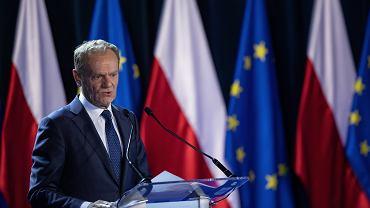 Donald Tusk podczas wykładu 'Nadzieja i Odpowiedzialność' na Uniwersytecie Warszawskim (zdjęcie ilustracyjne)