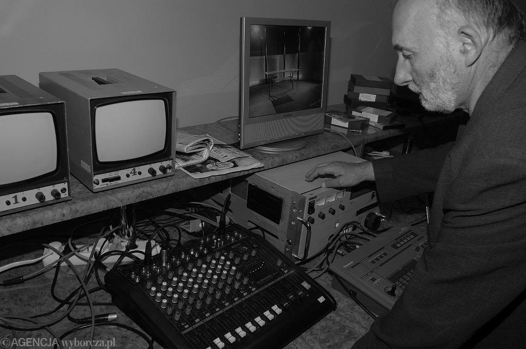 Antoni Kopff w siedzibie jednej ze stacji telewizyjnych, 2006 rok