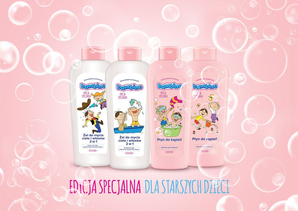 Tradycyjna linia Bambino w limitowanej edycji 'Dzieciaki' z postaciami bajki 'Bolek i Lolek'