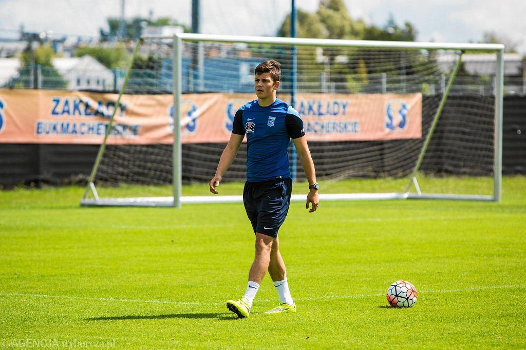 Ostatni trening Lecha Poznań przed meczem z FC Basel. Dawid Kownacki trenował indywidualnie