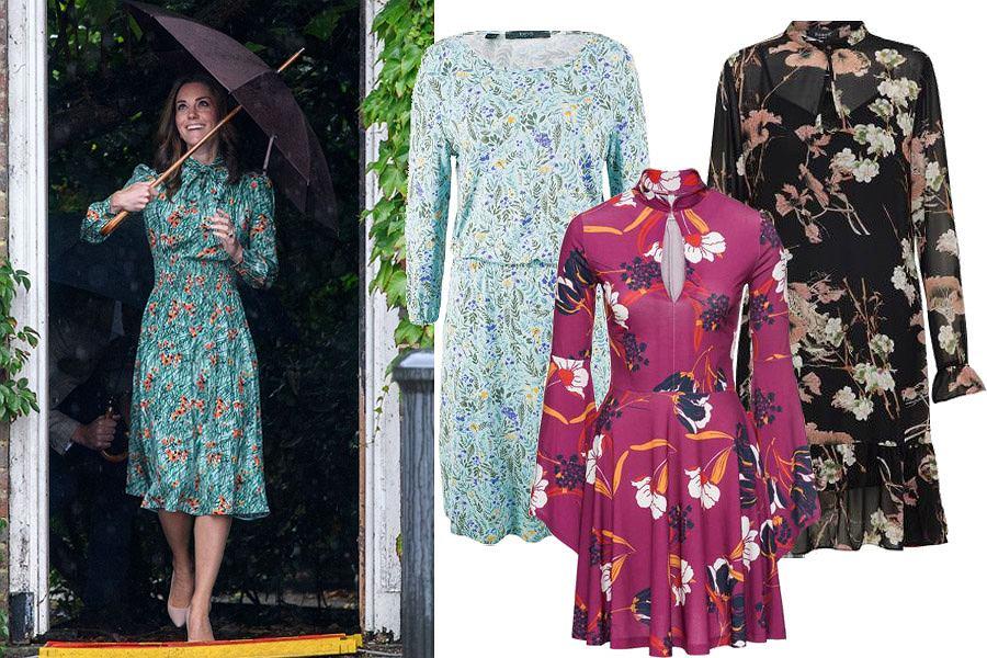 Sukienka w kwiaty księżnej Kate