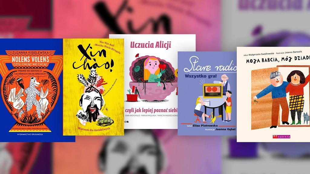 Okładki nominowanych książek