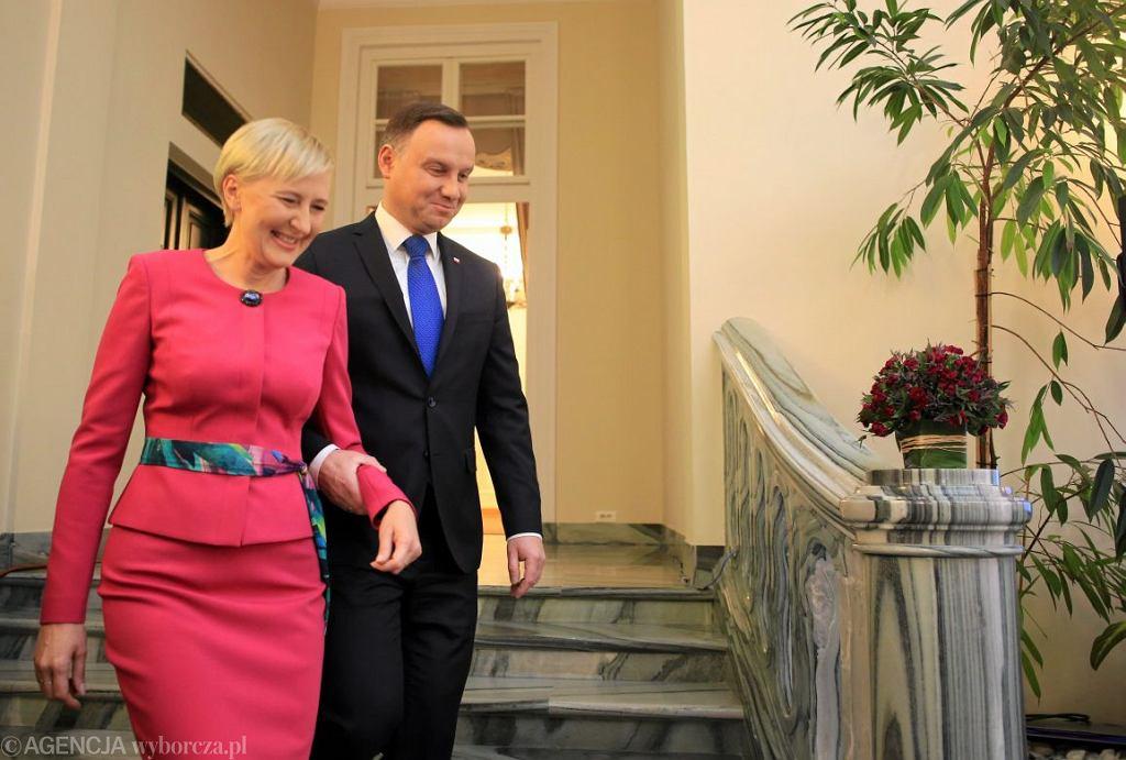 Agata Konhauser-Duda i Andrzeja Duda (fot. Jacek Marczewski / Agencja Gazeta)