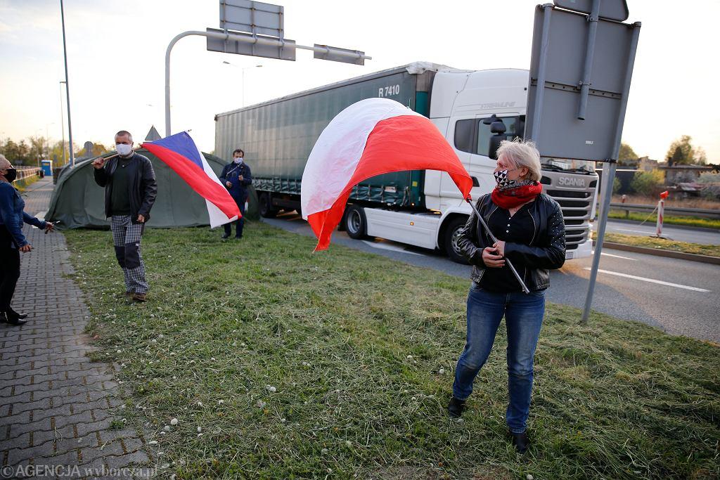 Protest mieszkańców przygranicznych miejscowości