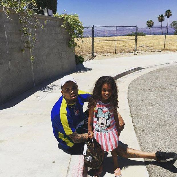 Chris Brown z córką