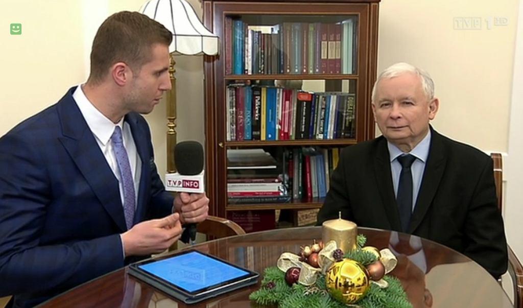 Jarosław Kaczyński w TVP