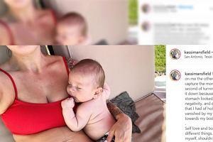"""Chciała zrobić zdjęcie z dzieckiem, ale zobaczyła, jak wygląda jej brzuch. """"Cała radość ze mnie uleciała"""""""