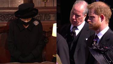 Pogrzeb księcia Filipa. Pogrążeni w smutku Karol, William i Harry pożegnali męża królowej Elżbiety II [ZDJĘCIA]