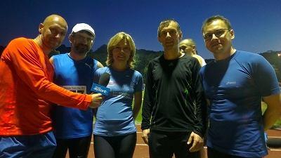 Warsaw Track Cup - po prawej stronie Przemek Iwańczyk, po lewej Anna Pawłowska-Pojawa z mężem i Paweł Januszewski