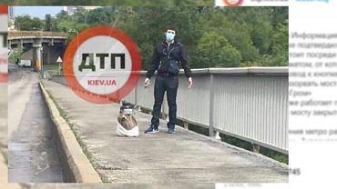 Mężczyzna groził, że wysadzi jeden z mostów w Kijowie