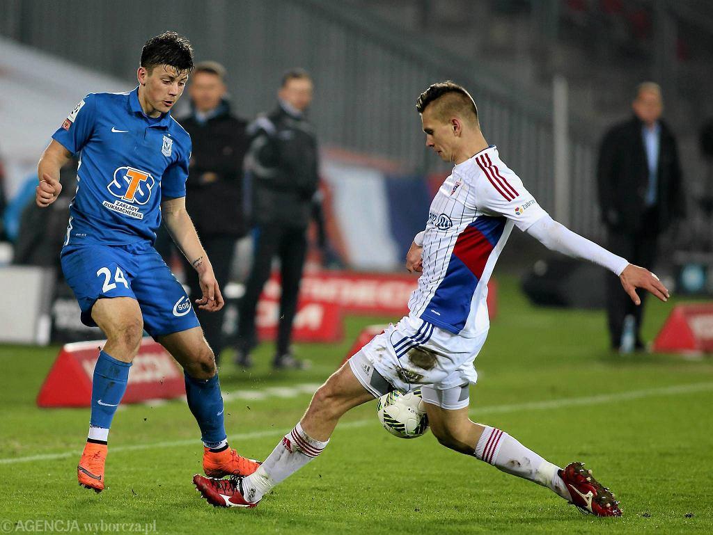 Dawid Kownacki w meczu z Górnikiem