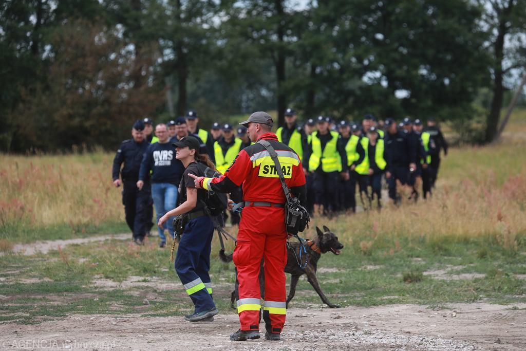 Akcja poszukiwawcza zaginionego 5-letniego Dawida w Grodzisku Mazowieckim