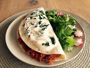 Soczewicowo-warzywne tortille