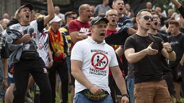 Agresywni przeciwnicy Marszu Równości, Białystok, 20 lipca 2019