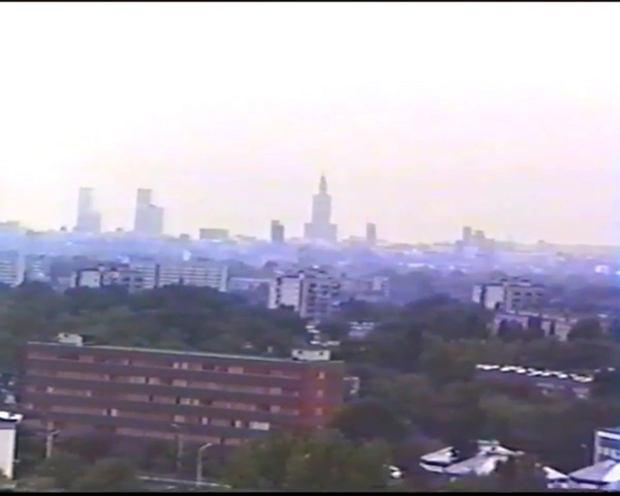 Skyline Warszawy 25 lat temu