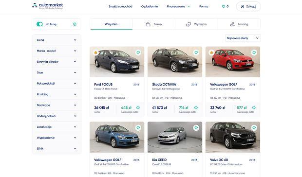 Automarket - platforma samochodowa banku PKO BP