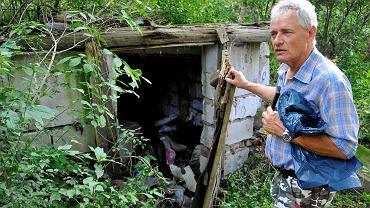 Waldemar Woźniak, który społecznie zbiera śmieci