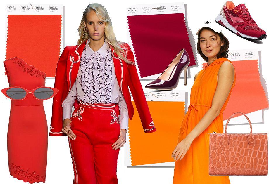 Modne kolory na sezon wiosna-lato 2019: odcienie czerwieni i pomarańczu