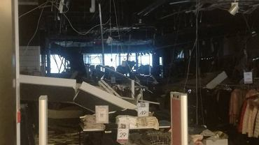 Zawalił się sufit w sklepie Szachownica w Galerii Rzeszów