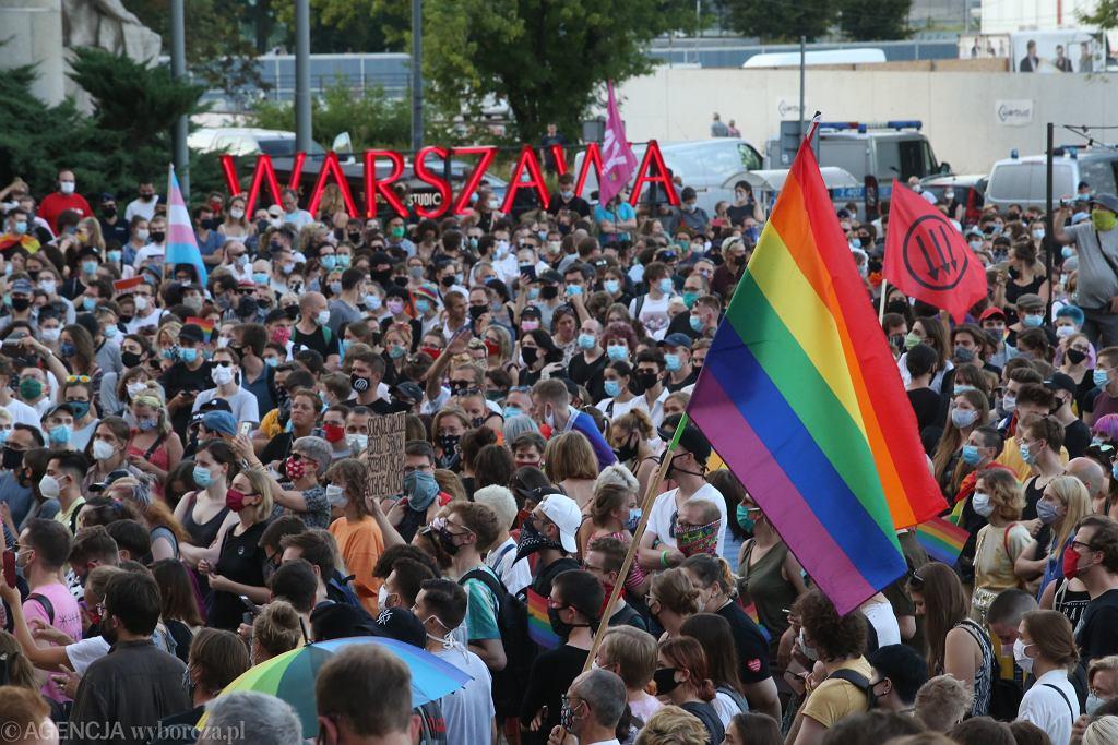Protest środowisk LGBT przeciwko zatrzymaniu aktywistki Margot