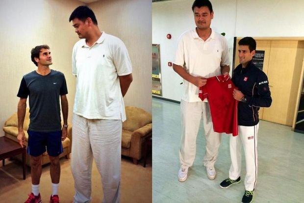 Roger Federer, Novak Djokovic, Yao Ming