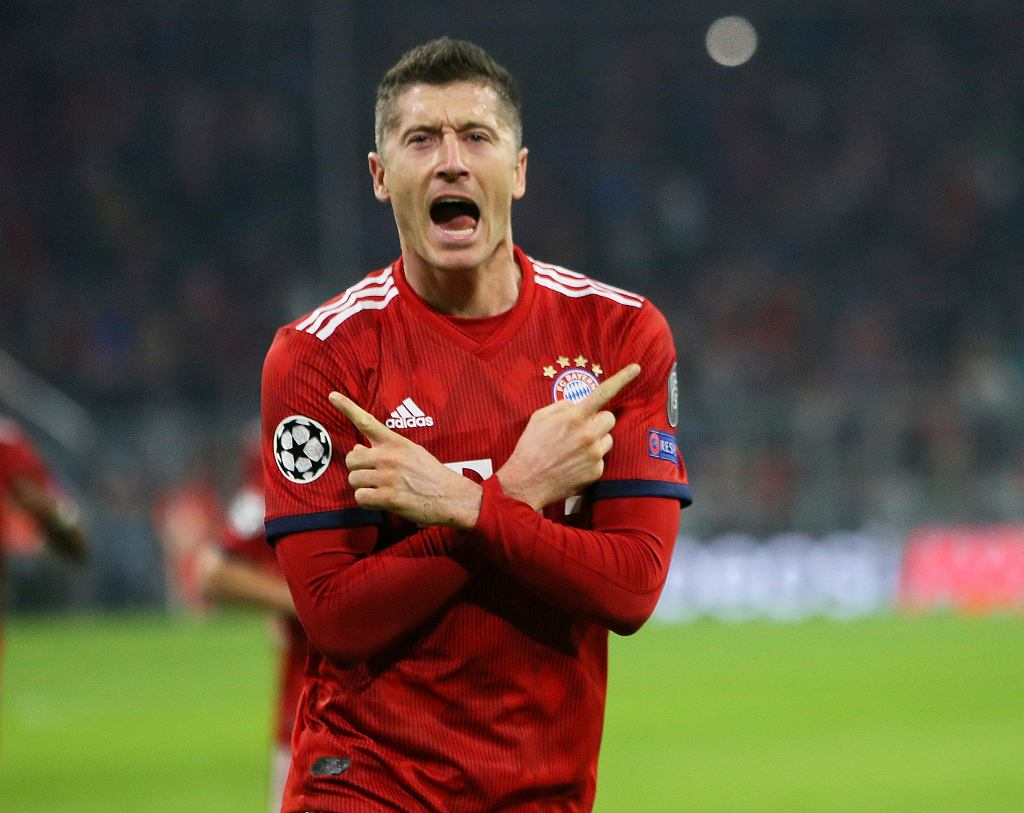 Robert Lewandowski w Der Klassiker, Borussia Dortmund - Bayern Monachium