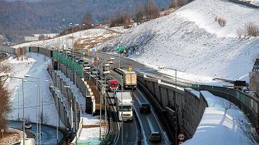 Budowa drogi S7 na odcinku Lubień - Naprawa