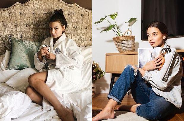 Julia Wieniawa pochwaliła się, jak wygląda jej mieszkanie. Widać,  że aktorka ma słabość do pudrowego różu - w takim kolorze są nie tylko firanki, ale także lodówka aktorki, a nawet łazienka.