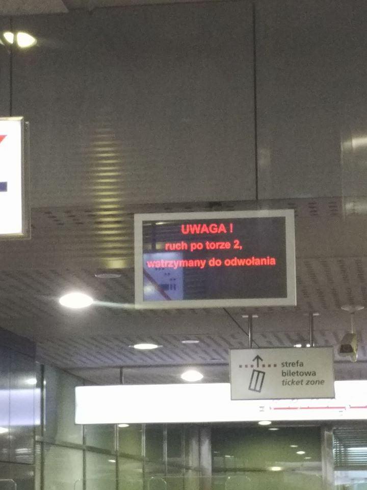 Stacja Dworzec Wileński zamknięta do odwołania