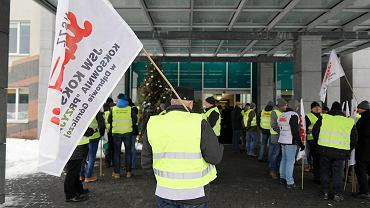 Protest górników przed siedzibą JSW