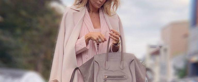 Małgorzata Rozenek cała na różowo. Stworzyła stylowy zestaw z luksusowych marek. Doskonały kolor na jesień!