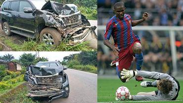 Samuel Eto'o po wypadku w Kamerunie. Źródło: Twitter / AP