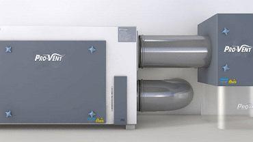 Filtr antysmogowy firmy PRO-VENT. To urządzenie CLEAN R umożliwiające filtrację cząstek stałych na poziomie 99,95 proc.