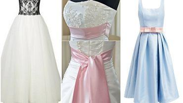 Kolorowe akcenty sukien ślubnych