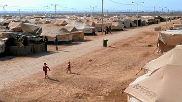 Zaatari w Jordanii - największy obóz dla Syryjczyków (25 tys. osób)