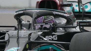 Lewis Hamilton w trakcie Grand Prix Rosji