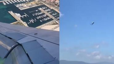 Problemy samolotu z lądowaniem na Gibraltarze.