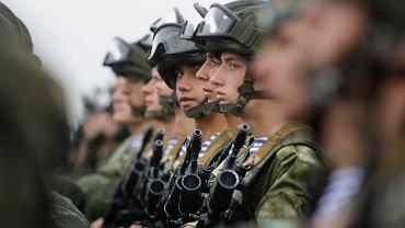 Białoruscy żołnierze na manewrach Zapad 2017