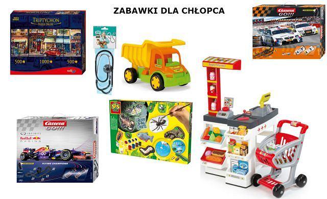 Zabawki dla chłopców od Limango: Ciężarówka, Stetoskop, Zestaw do odlewów gipsowych, Supermarket, Klocki puzzle, Gra