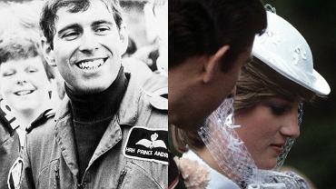 Książę Andrzej, księżna Diana i książę Karol