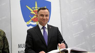 Prezydent Andrzej Duda podczas obchodów 20-lecia wstąpienia Polski do NATO w Szczecinie