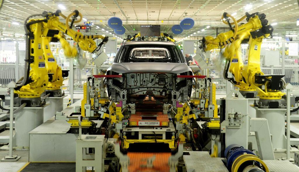 Fabryka samochodów Hyundai w Chinach.