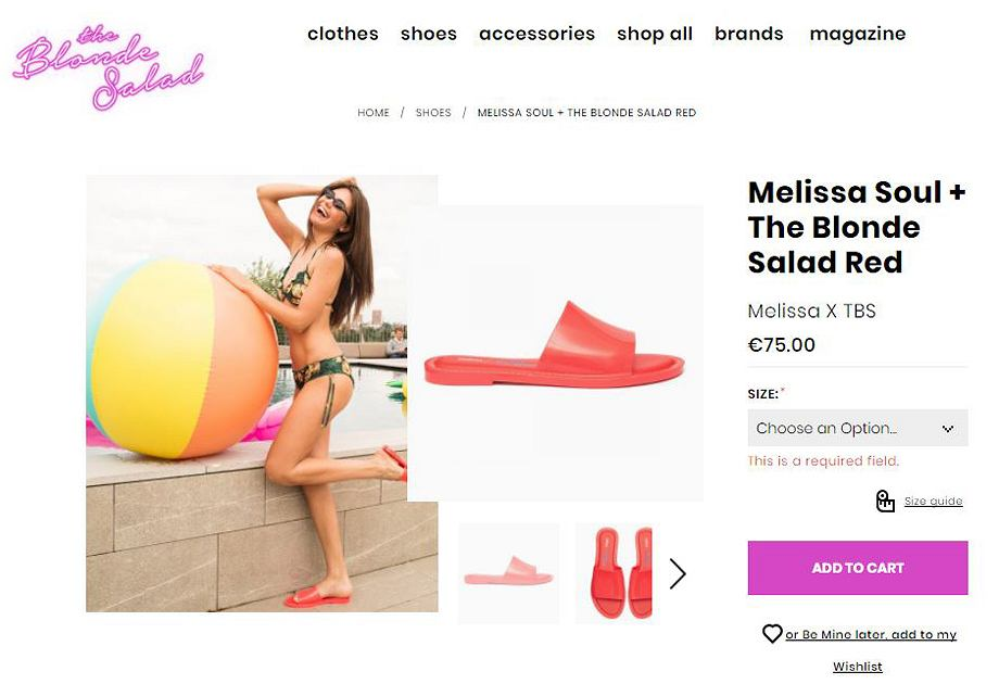Klapki Melissa x The Blonde Salad na platformie blogerki Chiary Ferragni