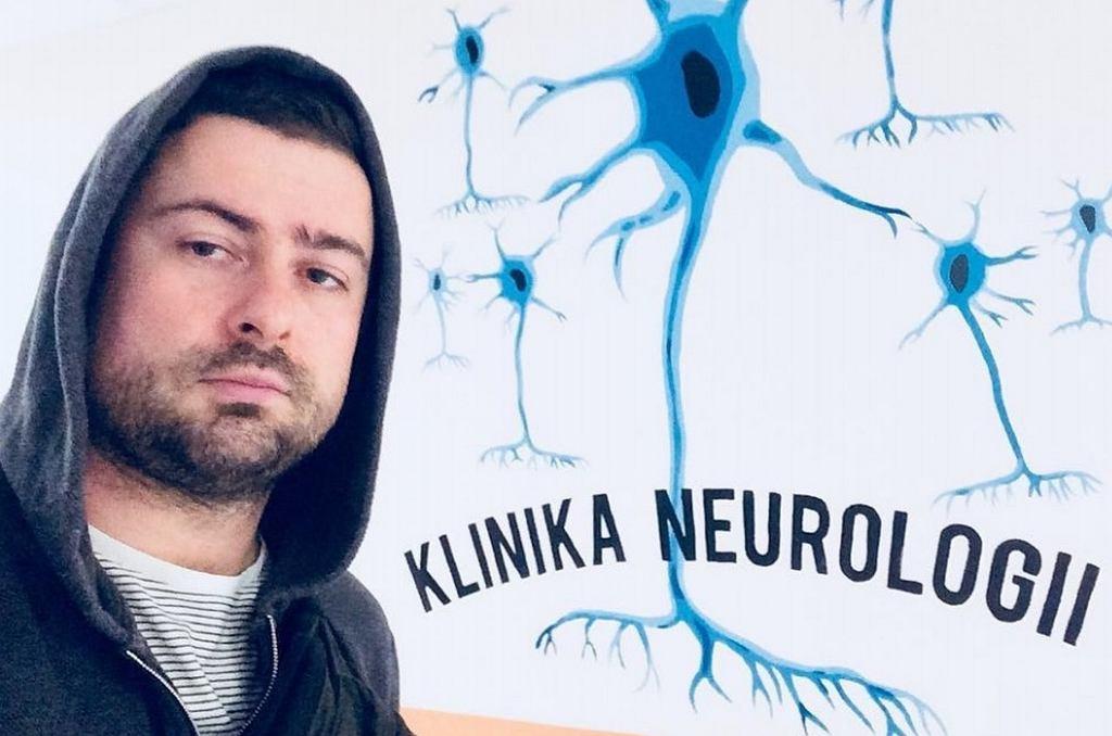Bartek Królik w klinice neurologicznej