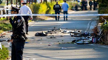 Atak terrorystyczny w Nowym Jorku. Sprawca furgonetką rozjeżdżał ludzi na ścieżce rowerowej