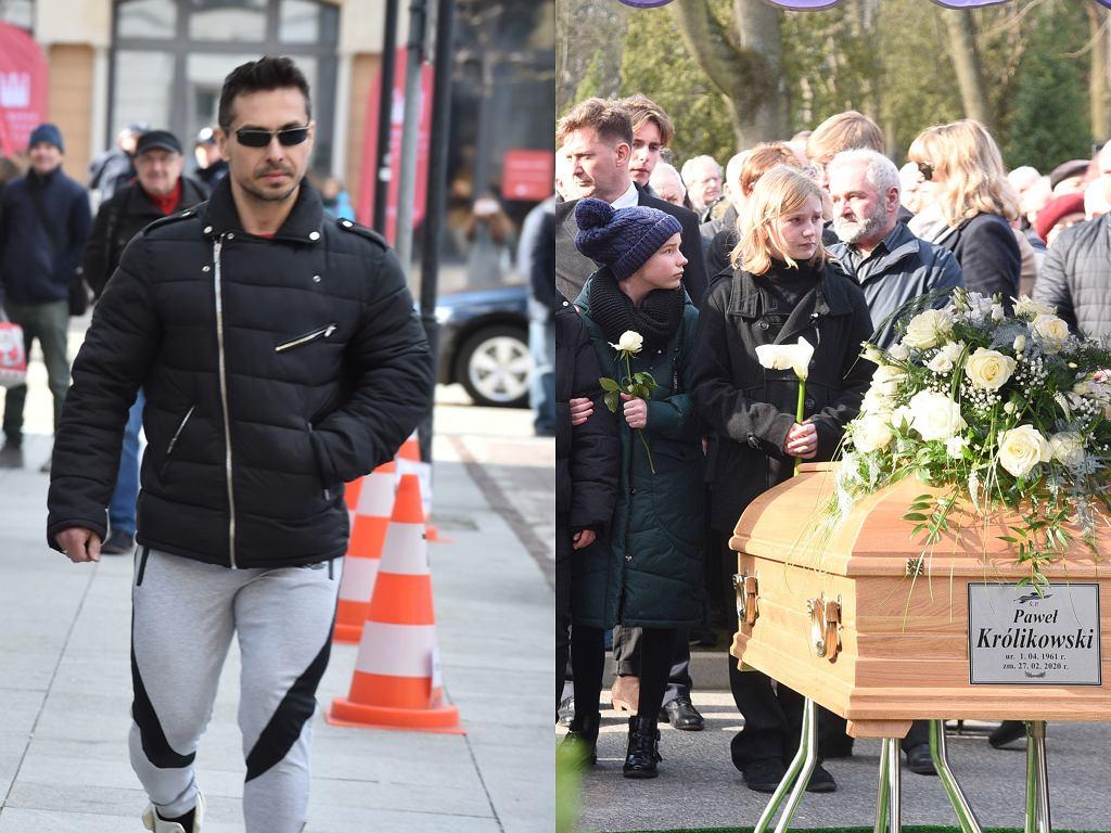 Marcin Łopucki na pogrzebie Pawła Królikowskiego