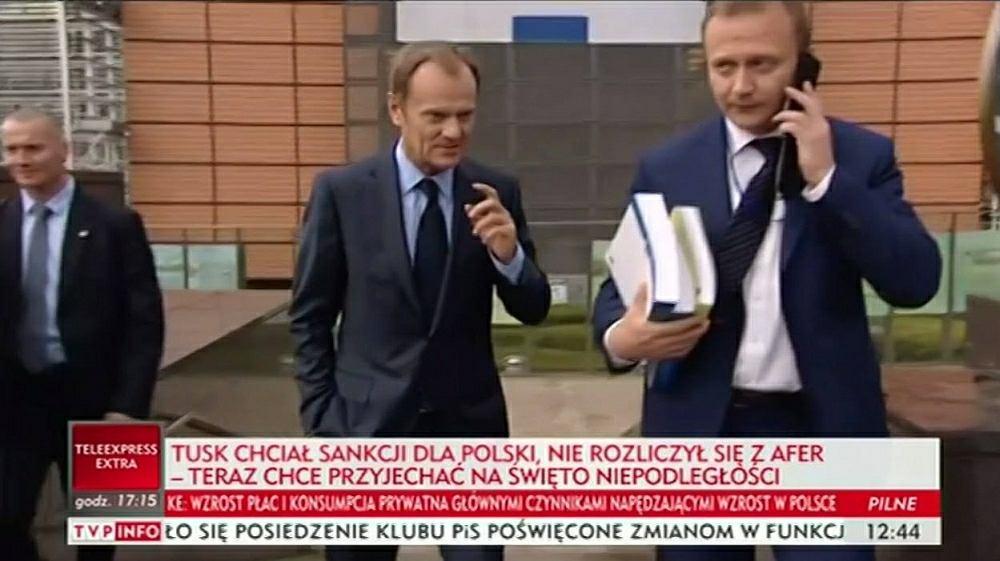 TVP Info o wizycie Donalda Tuska