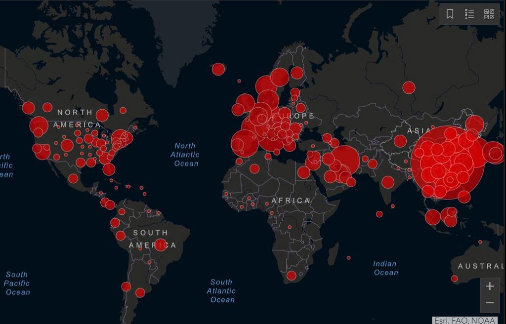Na tej mapie sprawdzisz, dokąd dotarł koronawirus